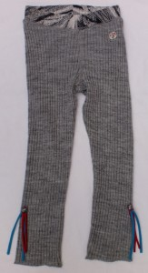 Carbone Strick-Legging grau