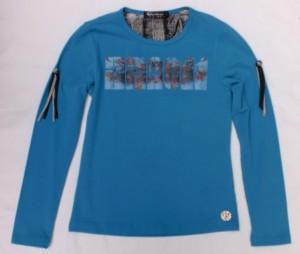 Carbone Langarm-Shirt/Longsleeve mit Print blau