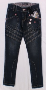 Carbone Jeans-Hose blue coated denim