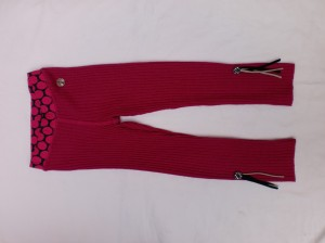 Carbone Strick-Legging pink
