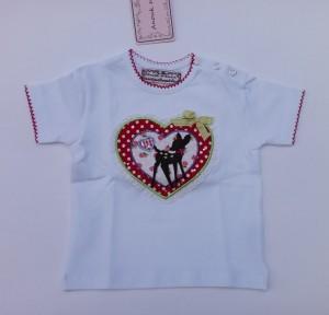 Anouk et Emile T-Shirt Bambi weiß