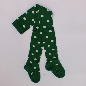 "Bonnie Doon Strumpfhose ""Dots"" grün-weiss"