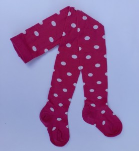 "Bonnie Doon Strumpfhose ""Dots"" pink-weiss"