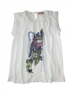 CKS T-Shirt weiss mit Print