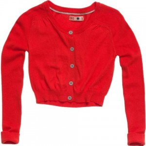 CKS Bolero / Cardigan MOON hop red