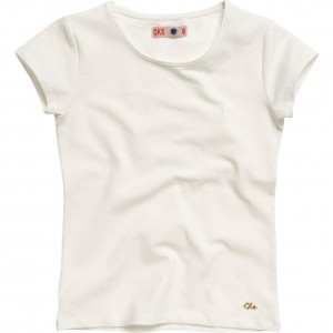 CKS Basic T-Shirt ROXY cloud dancer