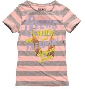 CKS T-Shirt PEACHY Streifen campari orange