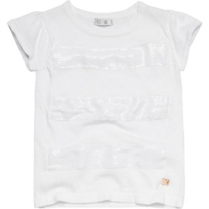 CKS feinstrick T-Shirt HALO bright white