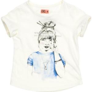 CKS T-Shirt HARUKO white rice