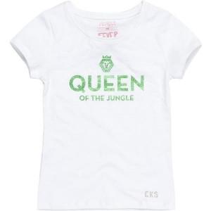 CKS Basic T-Shirt ROXY weiß/grün