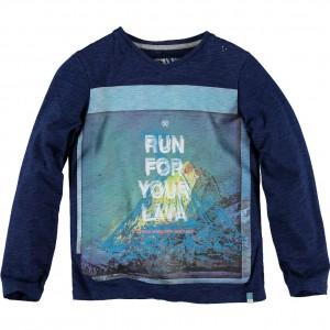 CKS Langarm-Shirt/Longsleeve HEXPLOSION denim blue