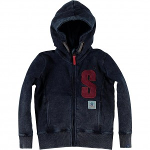CKS Kapuzen-Sweat-Jacke HUMPJEANS denim blue