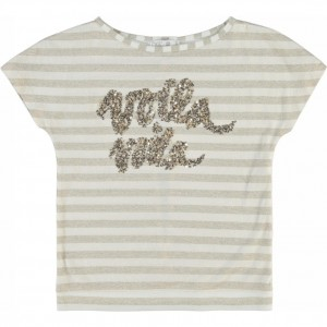 CKS T-Shirt GLAM golden stripe