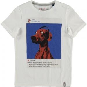 CKS T-Shirt HILL crispy white