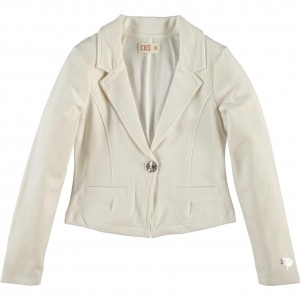 CKS Sweat-Blazer BOA crispy white