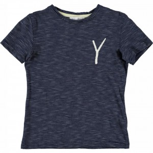 CKS T-Shirt FINLEY denim Stripe