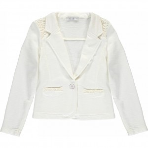CKS Sweat-Blazer BOWIE pearl white