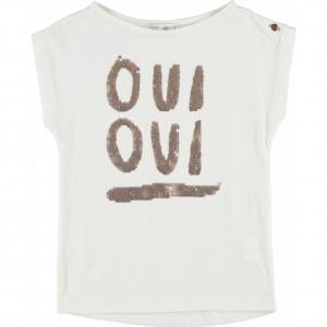 CKS T-Shirt OONA pearl white
