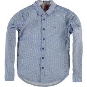 CKS Hemd BOTAN blau weiß Dreiecke