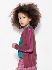 CKS feinstrick-Jacke/Cardigan KREPI pink col block
