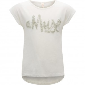 CKS T-Shirt AMUSE white silver