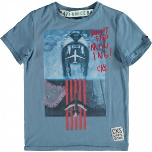 CKS T-Shirt DOMINIC athletic blue