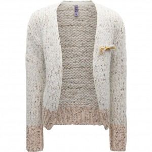 CKS Strickjacke/Cardigan QUEENS roman white