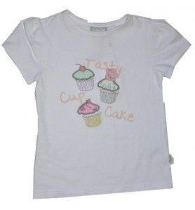 Paglie T-Shirt Cup Cake weiß
