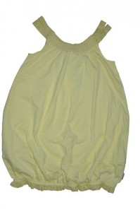 Paglie Ballon-Träger-Kleid wax yellow