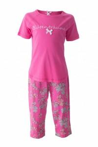 Louis & Louisa Mädchen Capri Schlafanzug/Pyjama BLÜTENTRÄUME