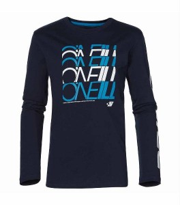 O´Neill Basic Langarm-Shirt/Longsleeve Alder blue Logo-Print