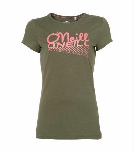 O´Neill T-Shirt MEREL olive leaves mit Print
