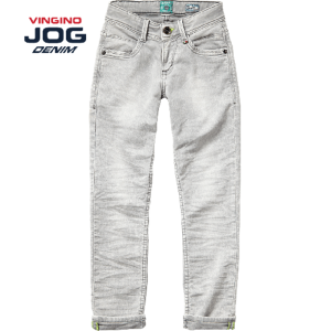 Vingino Jungs Slim Jog Jeans DAMONE light grey