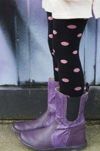 """Bonnie Doon Strumpfhose """"Lucky dots"""" schwarz-bubblegum (pink)"""