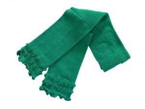 Bonnie Doon Capri-Legging Frou Frou mit Wellensaum lucky=grün