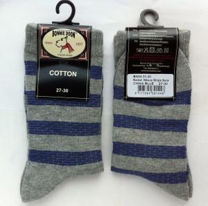 Bonnie Doon Socken BASKET WEAVE STRIPE china blue