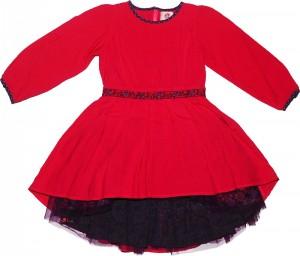 Paglie Langarm-Kleid pink lila