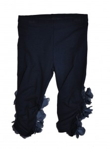 Paglie Legging Blüten-Applikation navy blue