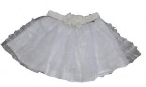 Paglie Petticoat-Rock weiß mit weißen Punkten