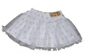 Paglie Petticoat-Rock weiß mit goldenen Punkten