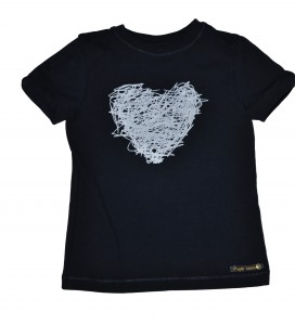 Paglie T-Shirt Herz navy blue