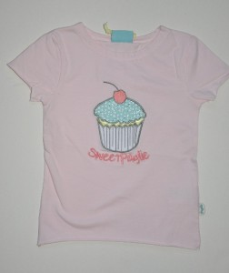 Paglie T-Shirt ein Cup Cake light rose