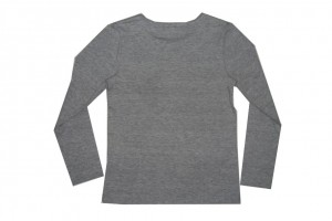 Paglie Basic Langarm-Shirt/Longsleeve grau melange