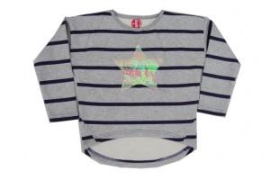 Paglie Langarm-Shirt/Longsleeve/Sweaty grau melange Stern