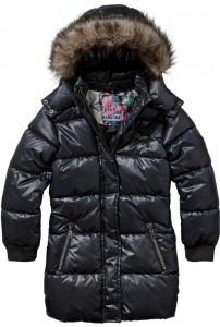 Vingino Winter Long-Jacke / Mantel mit Kapuze TOSSANE black - AUSVERKAUFT