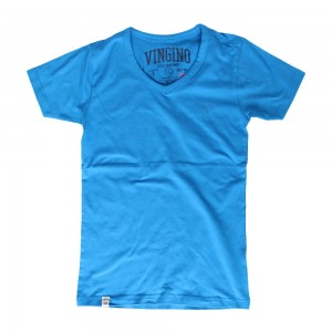 Vingino Basic T-Shirt V-Neck HADLEY paint blue