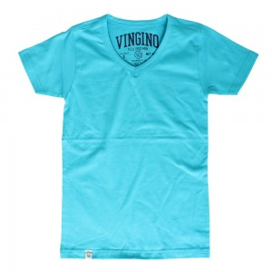Vingino Basic T-Shirt V-Neck HADLEY water aqua