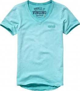 Vingino Basic T-Shirt V-Neck HERU aruba blue
