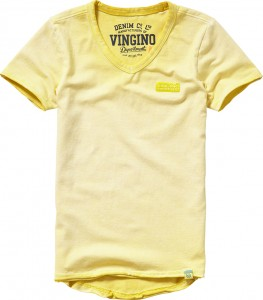 Vingino Basic T-Shirt V-Neck HERU soft yellow