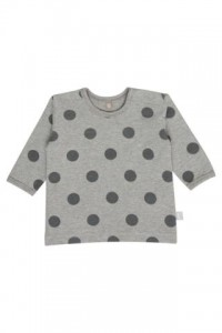 Hust & Claire Langarm-Shirt Dots light grey melange